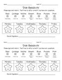 Weekly Star Behavior Chart