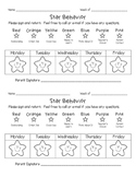 Weekly Star Behavior Chart