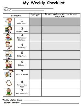 Weekly Station Checklist