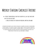 Weekly Station Checklist