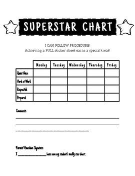Weekly Sticker Chart By Michaiah Creason
