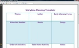 Weekly Storytime Planning Sheet
