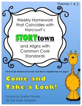 Weekly Storytown Homework Aligned with Pennsylvania Common Core