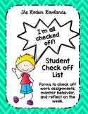 Weekly Student Checklist