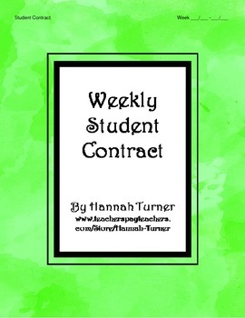 Weekly Student Contract