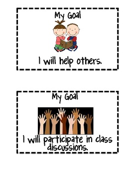 Weekly Student Goal Setting
