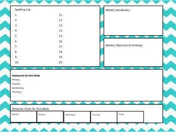Weekly Student Information Handout
