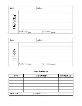 Weekly Student Journal/Planner Pagers