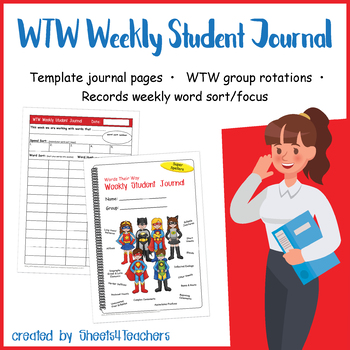 Weekly Student Journal for Words Their Way (Superhero)