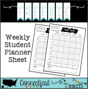 Weekly Student Planner