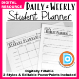 Student Planners for Distance Learning | Daily & Weekly St