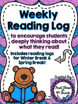 Weekly Student Reading Log