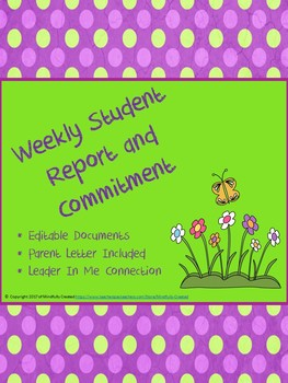 Weekly Student Report and Commitment
