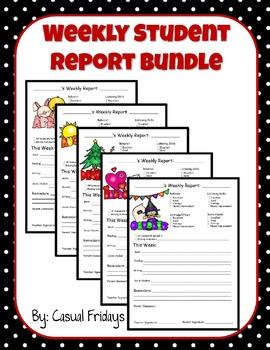 Weekly Student Report Bundle