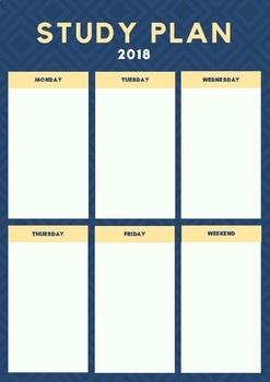 Weekly Study Plan