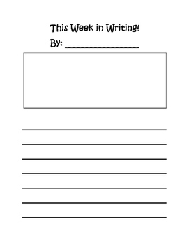 Weekly Subject Newsletters written by students