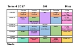 Weekly Subject Timetable Template