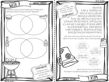 Weekly Summer Booklets for Speech & Language