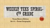Weekly TEKS Spiral -Set #1 - Texas Regions