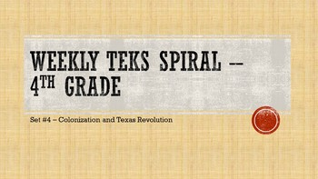Weekly TEKS Spiral - Set #4