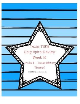 Weekly TEKS Spiral Week 15