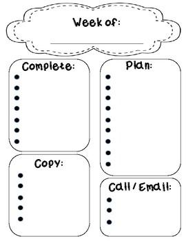 Weekly Task Managing Sheet