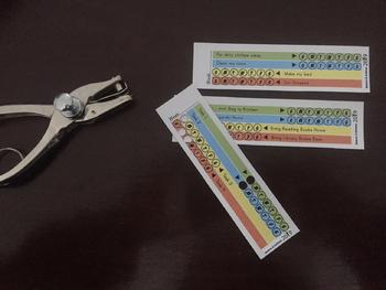 Weekly Tasks - Punch Card Editable