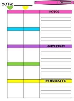 Weekly Teacher Planner*Flair Pen Theme*Color/Black & White