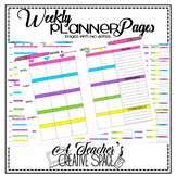 Weekly Teacher Planner*Flair Pen Theme*Color/Black & White