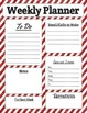 Weekly Teacher Planner Page in Glitter Stripes