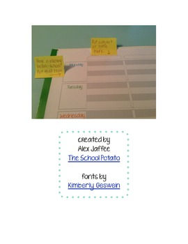 Weekly Teacher Planner Pages
