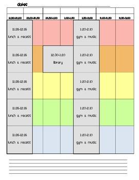 Weekly Teaching Planner