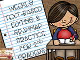 Weekly Text-Based Editing and Grammar Practice for 2nd Graders