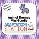 Weekly Thematic Coding: Animal Themes Growing Mini Bundle