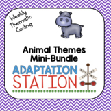 Weekly Thematic Coding: Animal Themes Growing Mini Bundle
