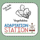 Weekly Thematic Homework-Vegetables Set
