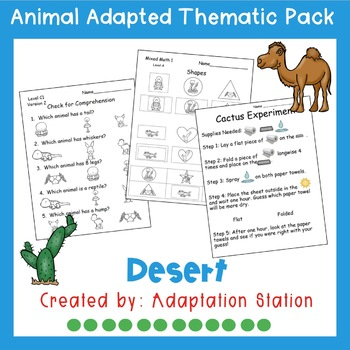 Weekly Thematic Pack: Deset Animals Pre-Sale