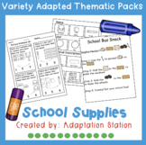 School Supplies Adapted Thematic Pack