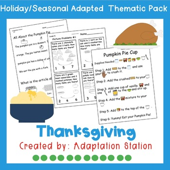 Weekly Thematic Pack: Thanksgiving Feast