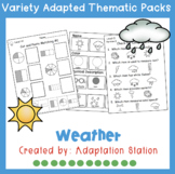 Adapted Thematic Pack: Weather