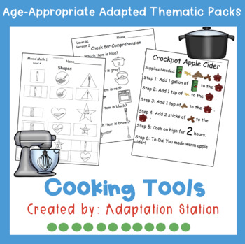 Weekly Thematic Packs: Cooking Tools Pre-Sale