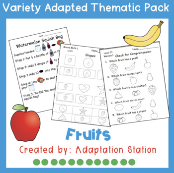 Weekly Thematic Packs: Fruits