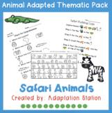 Safari Animals Adapted Thematic Pack