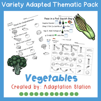 Weekly Thematic Packs: Vegetables