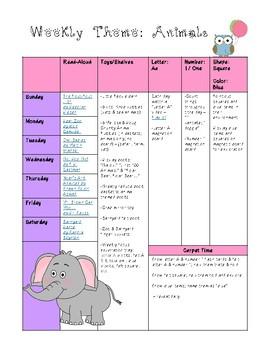 Pre-K Weekly Theme: Animals