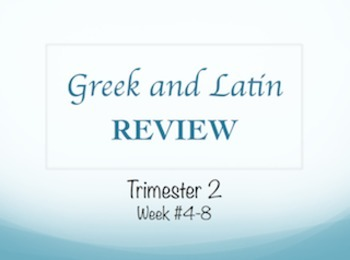 Weekly-Themed GREEK & LATIN Root Word Curriculum for the Whole Year