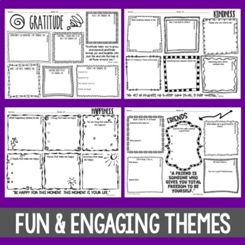 Weekly Think Book Student Journal Set 1
