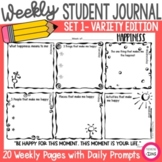 Weekly Student Journal Set 1