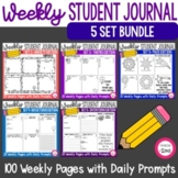 Weekly Student Quick Write Journal Bundle