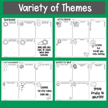 Weekly Think Book Student Journal Set 2 Themes